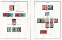Norway Stamp Collection on 28 Steiner Pages, 1971-1986, JFZ