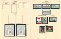 Poland Stamp Collection on 9 Pages, Mint NH Sets, 1979-1980, JFZ