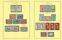 Poland Stamp Collection on 24 Steiner Pages, Mint NH Sets, 1961-64, JFZ