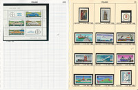 Poland Stamp Collection on 20 Pages, Mint NH Sets, 1976-79, JFZ