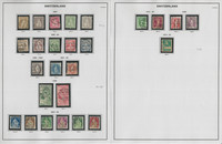 Switzerland Stamp Collection on 8 Pages, Neatly Identified, JFZ