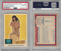 1959 Fleer, Indian Trading, #26 Indian Woman Grinding Maize, PSA 10 Gem