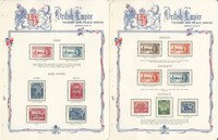 British Colonies 1946 Peace Set Mint Complete on 27 White Ace Pages, JFZ