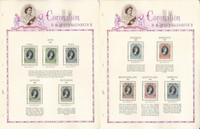 British Colonies 1953 Coronation Set Mint Complete on 20 White Ace Pages, JFZ