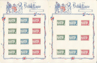 British Colonies 1958 West Indies Set Mint Complete on 3 White Ace Pages, JFZ