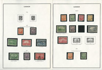 Canada 1851-1935 Stamp Collection on 21 Harris Pages, JFZ