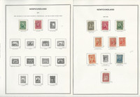 Canada Provinces Stamp Collection on 35 Harris Pages, Nice Newfoundland, JFZ
