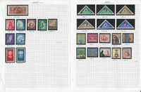 Egypt Stamp Collection on 9 Pages, Interesting Lot Neatly Identified, JFZ