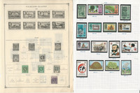 Fiji Stamp Collection on 10 Scott and Harris Pages, 1878-1977, JFZ
