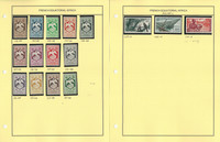 French Equitorial Africa Stamp Collection on 2 Pages, French Colony, JFZ
