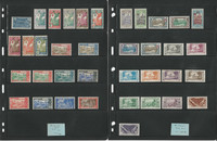 French Guiana & Polynesia Stamp Collection on 2 Pages, French Colony, JFZ