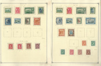 Jamaica Stamp Collection on 9 Scott Pages, 1919-1963, JFZ