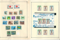 Jamaica Stamp Collection on 22 Scott Pages, 1963-1978, JFZ