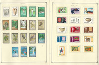 Jamaica Stamp Collection on 26 Scott Pages, 1979-1992, JFZ