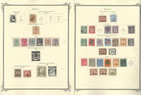 Malta Stamp Collection on 2 Scott Specialty Pages, 1860-1911, JFZ