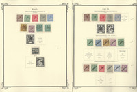 Malta Stamp Collection on 2 Scott Specialty Pages, 1914-1922, JFZ