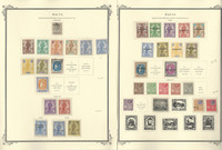 Malta Stamp Collection on 4 Scott Specialty Pages, 1922-1937, JFZ