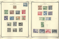 Malta Stamp Collection on 22 Scott Specialty Pages, 1938-1976, JFZ