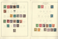 Philippines Stamp Collection on 24 Scott Specialty Pages, 1899-1946, JFZ