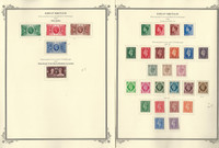 Great Britain Stamp Collection on 13 Scott Specialty Pages, 1935-1961, JFZ