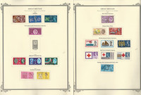 Great Britain Stamp Collection on 24 Scott Specialty Pages, 1961-1975, JFZ