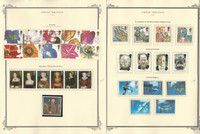 Great Britain Stamp Collection on 24 Scott Specialty Pages, 1995-2000, JFZ