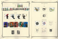 Great Britain Stamp Collection on 24 Scott Specialty Pages, 2000-2003, JFZ