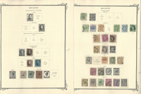 Belgium Stamp Collection on 27 Scott Specialty Pages, 1849-1960, JFZ