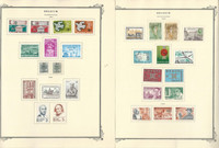 Belgium Stamp Collection on 39 Scott Specialty Pages, 1961-1980, JFZ