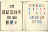 Belgium Stamp Collection on 30 Scott Specialty Pages, 1980-1990, JFZ
