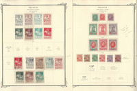 Belgium Semi's Stamp Collection on 6 Scott Specialty Pages, 1910-1931, JFZ