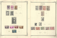 Belgium Semi's Stamp Collection on 8 Scott Specialty Pages, 1932-1939, JFZ