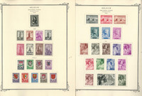 Belgium Semi's Stamp Collection on 24 Scott Specialty Pages, 1939-19569, JFZ