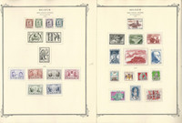Belgium Semi's Stamp Collection on 12 Scott Specialty Pages, 1956-1963, JFZ