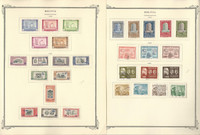 Bolivia Stamp Collection on 24 Scott Specialty Pages, 1955-1981, JFZ
