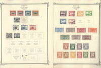 Bolivia Airpost Stamp Collection on 24 Scott Specialty Pages, 1924-1975, JFZ