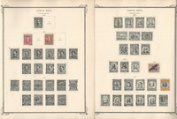 Costa Rica Stamp Collection on 35 Scott Specialty Pages, 1862-1946, JFZ