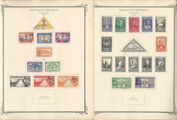 Dominican Rep. Stamp Collection on 38 Scott Specialty Pages, 1865-1946, JFZ