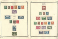 Canada Stamp Collection on 21 Scott Specialty Pages, 1932-1969, JFZ