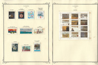 Canada Stamp Collection on 26 Scott Specialty Pages, 1984-1990 Mint, JFZ