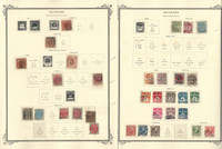 Denmark Stamp Collection on 4 Scott Specialty Pages, 1851-1928, JFZ