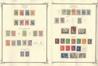 Finland Stamp Collection on 10 Scott Specialty Pages, 1919-1957, JFZ