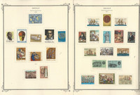 Greece Stamp Collection on 23 Scott Specialty Pages, 1970-1978, JFZ
