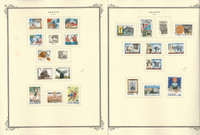 Greece Stamp Collection on 16 Scott Specialty Pages, 1987-1992, JFZ