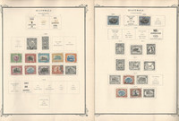 Guatmala Stamp Collection on 30 Scott Specialty Pages, 1871-1946, JFZ