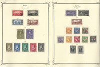 Haiti Stamp Collection on 35 Scott Specialty Pages, 1929-1962 BOB, JFZ