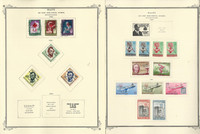 Haiti Stamp Collection on 13 Scott Specialty Pages, 1944-1969 BOB, JFZ