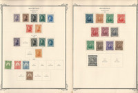 Honduras Stamp Collection on 30 Scott Specialty Pages, 1865-1945, JFZ