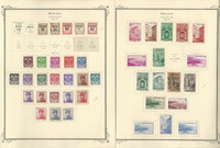 Monaco Stamp Collection on 8 Scott Specialty Pages, 1937-1950, JFZ