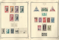 Monaco Stamp Collection on 12 Scott Specialty Pages, 1950-1959, JFZ